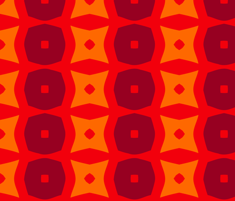 Donuts C (Orange) fabric by nekineko on Spoonflower - custom fabric