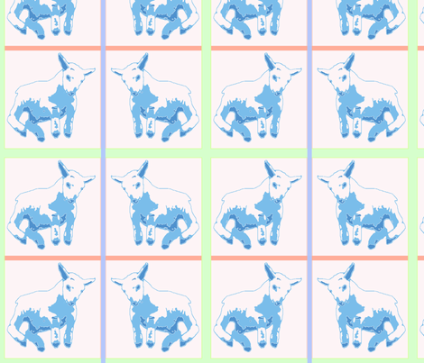 Lambs for Baby fabric by robin_rice on Spoonflower - custom fabric