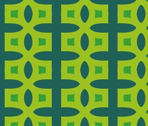Stitches C (Green) fabric by nekineko on Spoonflower - custom fabric