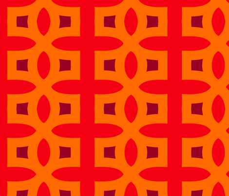 Stitches D (Orange) fabric by nekineko on Spoonflower - custom fabric