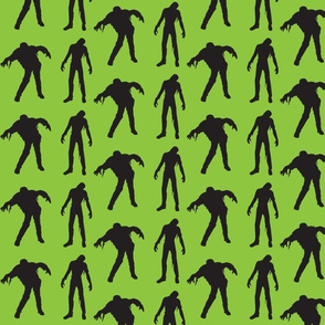 Large Silhouette of the Living Dead Green