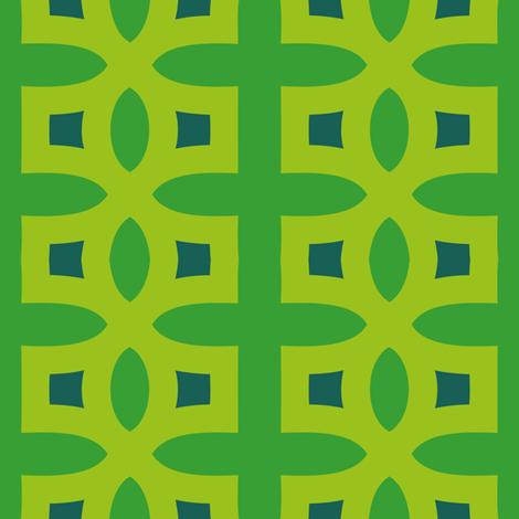 Stitches D (Green) fabric by nekineko on Spoonflower - custom fabric