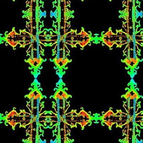 Neon Cross Effects fabric by Cindy Wilson