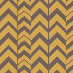 Chevron-Brushed Nickel & Brass