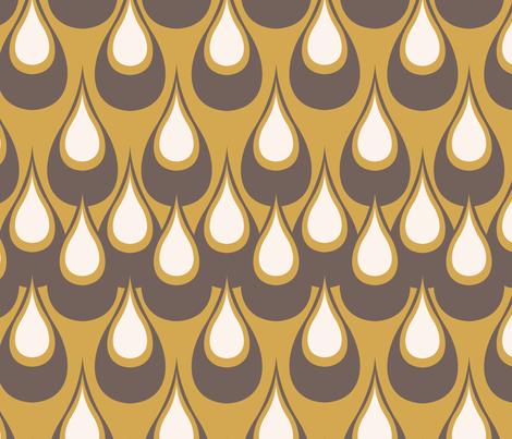Raindrops-Butterscotch fabric by designertre on Spoonflower - custom fabric