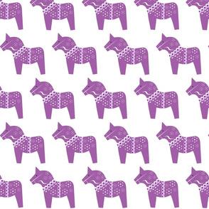 Court & Spark - Dala Tonal Purple on White