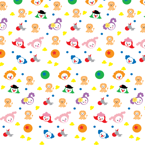Send In The Clowns fabric by kiwicuties on Spoonflower - custom fabric