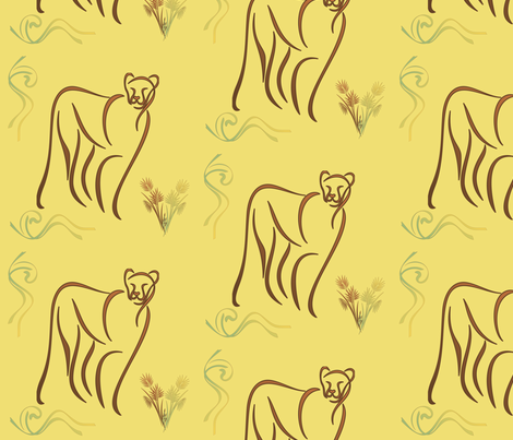 Mountain Lion © Gingezel™ Inc. 2011 fabric by gingezel on Spoonflower - custom fabric