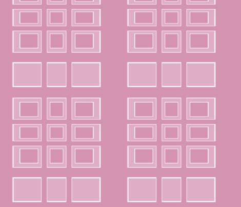 Pink Rectangles for Kids © Gingezel 2011 fabric by gingezel on Spoonflower - custom fabric