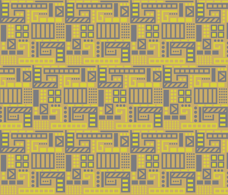 Birds Eye View in Mustard  fabric by dolphinandcondor on Spoonflower - custom fabric