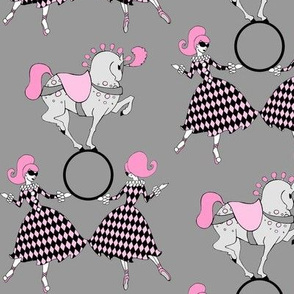 Grey Retro Circus