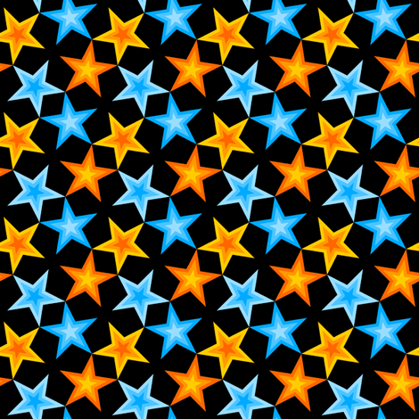 S43 CV1 stars 4 in 3 paired fabric by sef on Spoonflower - custom fabric
