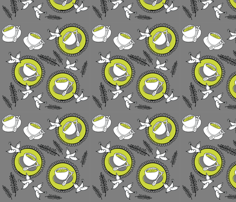 Flying Coffee fabric by lisaorgler on Spoonflower - custom fabric