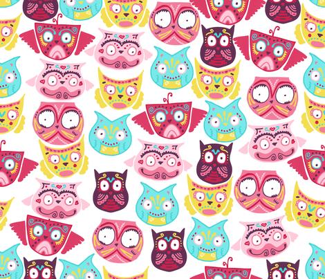 ornate owls fabric by babysisterrae on Spoonflower - custom fabric