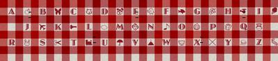 Gingham Alphabet Brighter