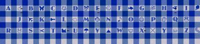 Blue Gingham Alphabet