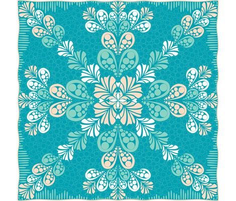 ©2011 Aloha Splash fabric by glimmericks on Spoonflower - custom fabric