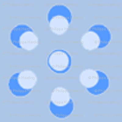 Court & Spark - Mini Dot Flowers Pale Blue