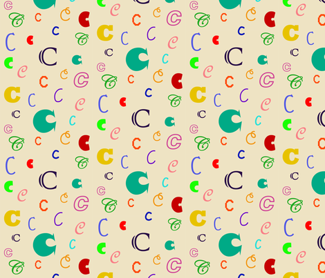 Initially_C fabric by lesleyclover-brown on Spoonflower - custom fabric