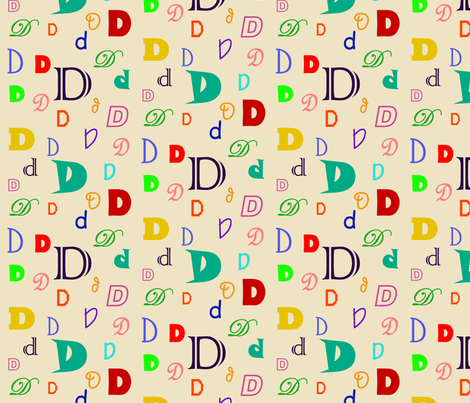 Initially_D fabric by lesleyclover-brown on Spoonflower - custom fabric