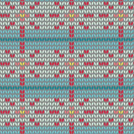 faux fair isle fabric by katherinecodega on Spoonflower - custom fabric