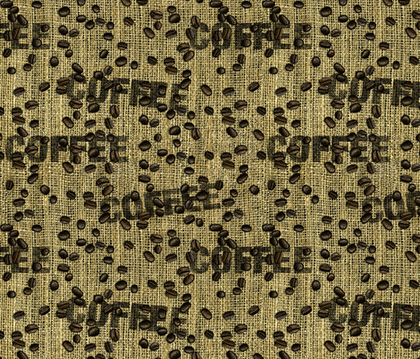 burlap & beans fabric by thatswho on Spoonflower - custom fabric