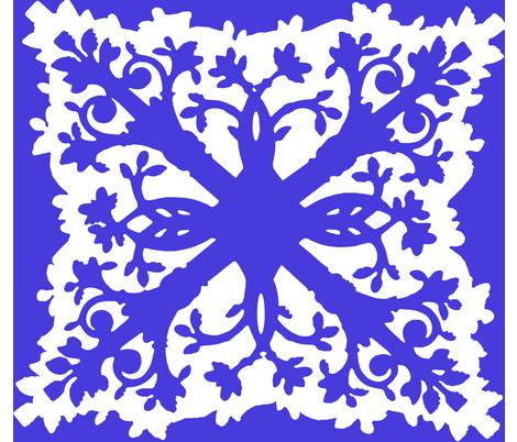 Blue Hawaii Quilt fabric by charleneruell on Spoonflower - custom fabric
