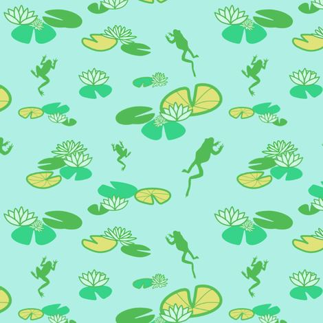 Lilly Frog fabric by lauredesigns on Spoonflower - custom fabric