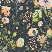Botanical In Dark Grey