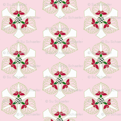 Formal floral on bright pink