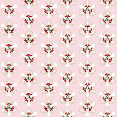Formal floral on bright pink fabric by su_g on Spoonflower - custom fabric