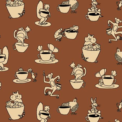 coffee with cream fabric by weavingmajor on Spoonflower - custom fabric