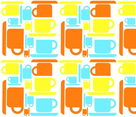 Coffee! Coffee! Coffee! fabric by sewbold on Spoonflower - custom fabric