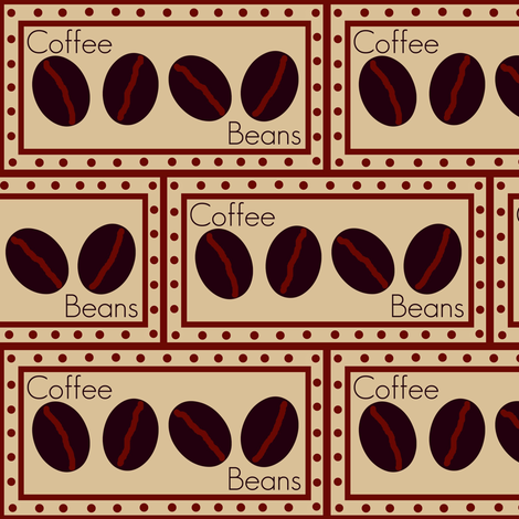 coffee beans # 6 fabric by paragonstudios on Spoonflower - custom fabric
