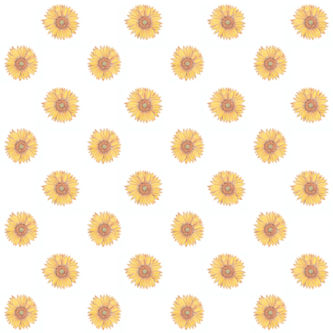 sunflowers fabric by creativebrenda on Spoonflower - custom fabric