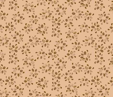 Coffee Blossoms fabric by jo_remon_a_k_a_:m-bellishment on Spoonflower - custom fabric