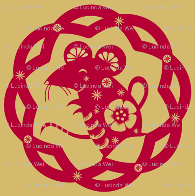 The Year of the Rat (solo): Red & Gold - © Lucinda Wei