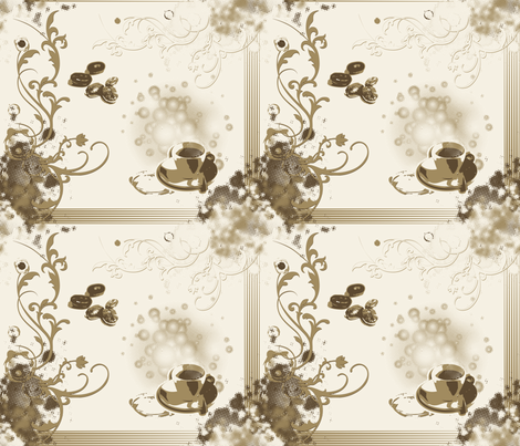 Coffee Design fabric by emjy on Spoonflower - custom fabric