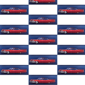 red_cadillac_with_navy_background_tiled_checkers