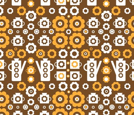 My Vintage Coffee Pot (3) fabric by mondaland on Spoonflower - custom fabric
