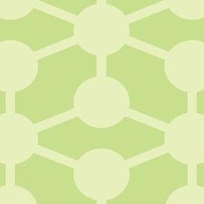 simple molecule soft green