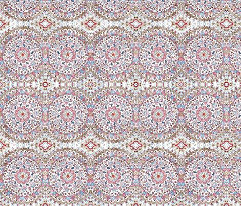 Josie Mandala fabric by poppydreamz on Spoonflower - custom fabric