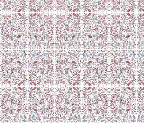 Josie_Small Paisley fabric by poppydreamz on Spoonflower - custom fabric