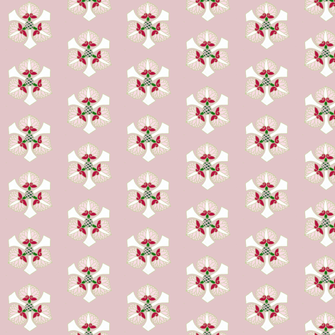 Formal floral, gray-pink by Su_G fabric by su_g on Spoonflower - custom fabric