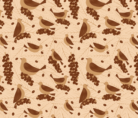 Bird Friendly Coffee fabric by gracedesign on Spoonflower - custom fabric