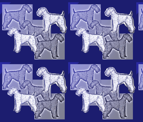 Kerry Blue Terrier Fabric fabric by dogdaze_ on Spoonflower - custom fabric