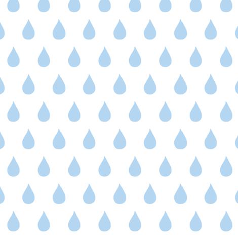 Rainy Days  (light sky blue) fabric by pattyryboltdesigns on Spoonflower - custom fabric