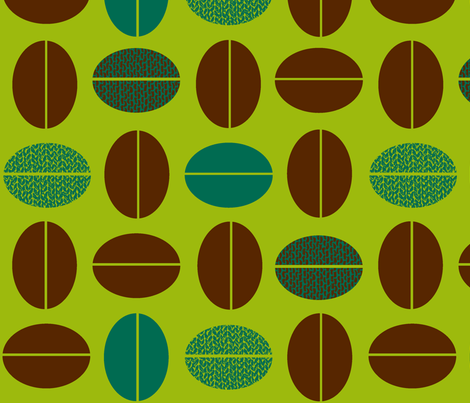 CoffeeBean2C fabric by kimnb on Spoonflower - custom fabric