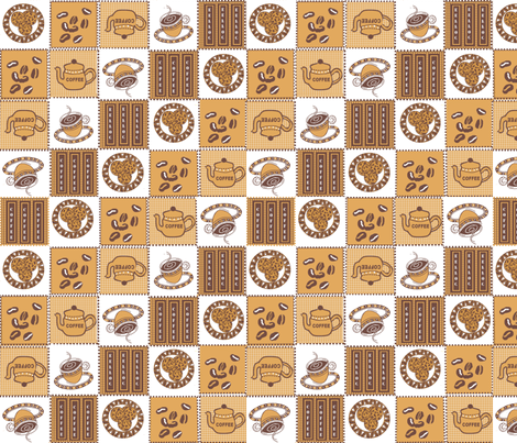 Coffee Delight! fabric by createdgift on Spoonflower - custom fabric
