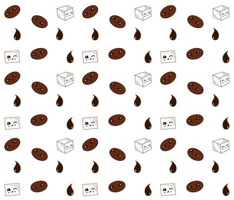 Kawaii Koffee fabric by verdigrisdye on Spoonflower - custom fabric